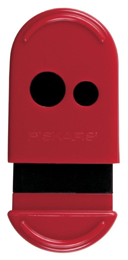 Fiskars Mess-Less Pencil and Crayon Sharpener, Color Received May Vary (12-95900J) Fiskars School Office and Craft Division