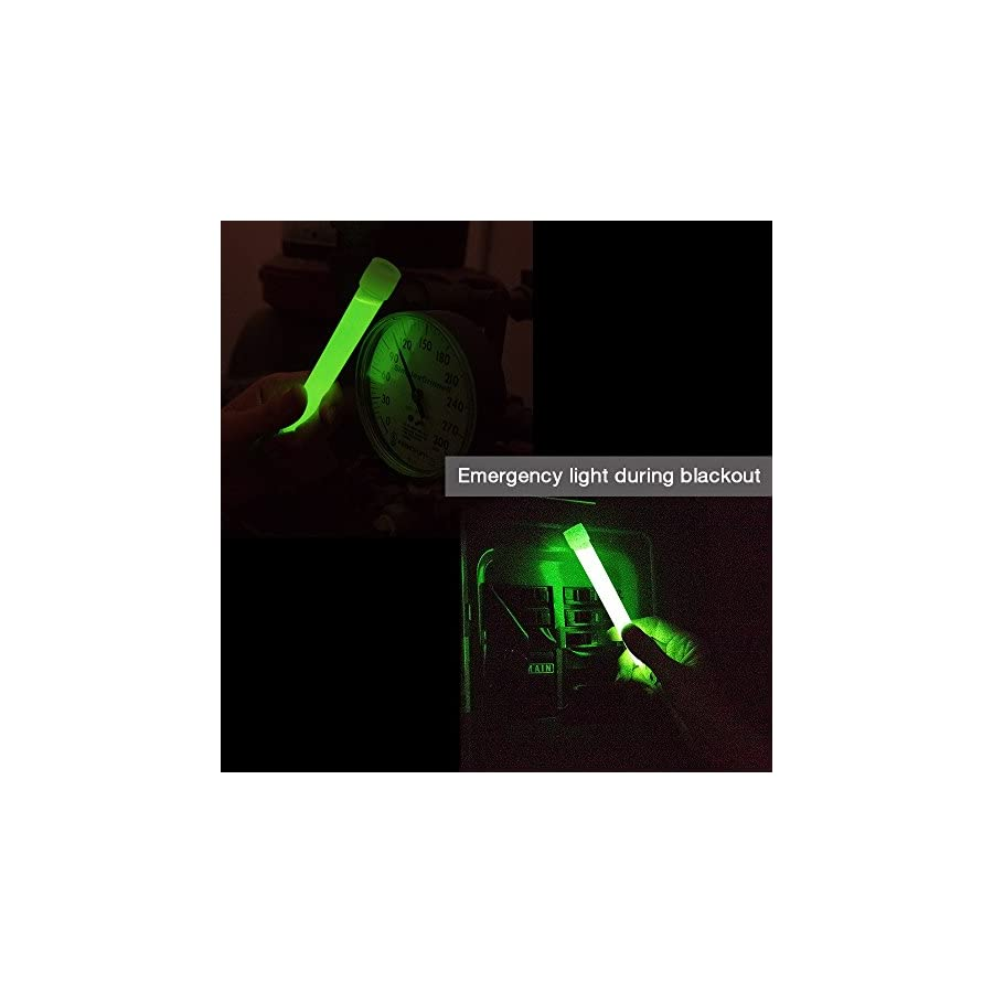 EACHPOLE 25 Pack Emergency 6 inch Glow Stick Assortment Value Bundle for Camping, Hiking, Roadside Assistance, Emergencies Various Colors, APL1696