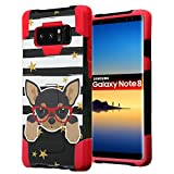 chihuahua cell phone accessories - Galaxy Note 8 Case, Capsule-Case Hybrid Fusion Dual Layer Shockproof Combat Kickstand Case (Black & Red) for Samsung Galaxy Note8 SM-N950 - (Chihuahua)