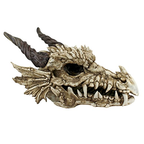 Design Toscano Stoker's Moors Dragon Skull Sculpture - Large by Design Toscano