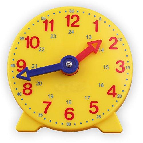 Student Learning Clock Time Teacher Gear Clock 4 Inch 12/24 Hour (Teacher Clock)