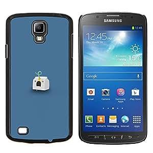Qstar Arte & diseño plástico duro Fundas Cover Cubre Hard Case Cover para Samsung Galaxy S4 Active i9295 (Headshot Leche)