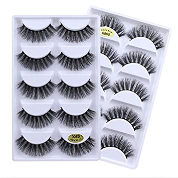 830c1c3ad75 Amazon.com : Drivworld G800 3D false eyelashes natural look lashes wispies  long for 1 pack pestañas postizas : Beauty