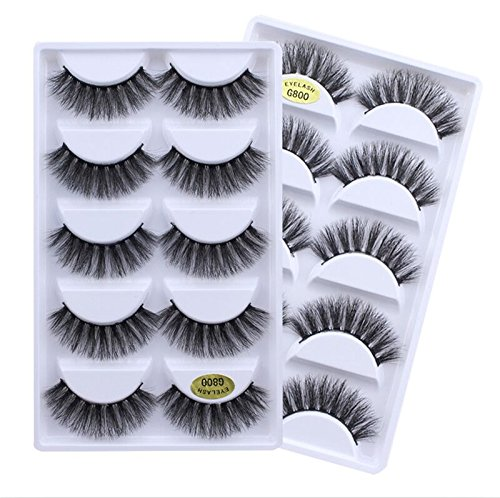 Drivworld false wispies eyelashes 5 pair naturales 3d pestaas postizas eye lashes mink long wimpern extensions lashes 3d faux cils