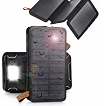 Case Safety 1 x 300000mAh External Battery Charger Power Bank Battery Charger Solar Panel for iPhone, Nokia, Samsung, Sony, xiaomi, iPad, iPod Kindles GPS etc, Black