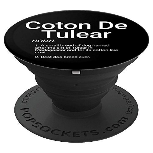 Coton De Tulear Breed Definition Dog Mom Gift - PopSockets Grip and Stand for Phones and Tablets