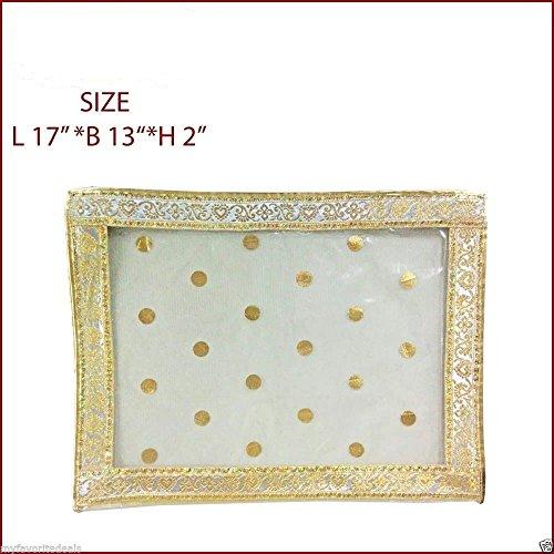 5 Pack/SARI-SAREE/LEHENGA COVER-BAGS-PACKAGING-STORAGE ONE SIDE CLOTH CLEAR (5) - Choli Sari