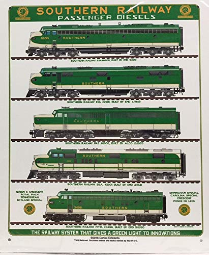 SOUTHERN RAILROAD TIN SIGN - Southern Daniel Edwards Diesel Collection (Diesel Collection)