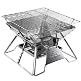 MEI XU Barbecue Grill BBQ Grill - Outside Home Barbecue Rack Stainless Steel Portable Oven Folding Grill Stove Charcoal Stove Wood Stove
