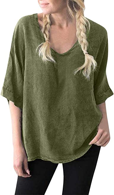 Nevera Womens Cotton Linen Tops Short Sleeve Retro Chinese Frog Button Blouse Casual Loose T Shirt
