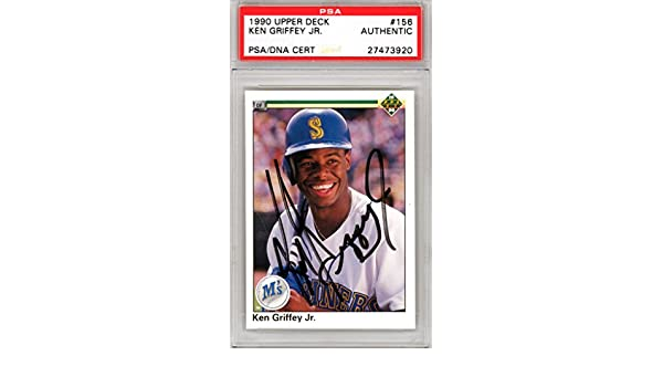 69f02f7d71 Ken Griffey Jr. Autographed 1990 Upper Deck Card #156 Seattle Mariners  PSA/DNA #27473920 at Amazon's Sports Collectibles Store