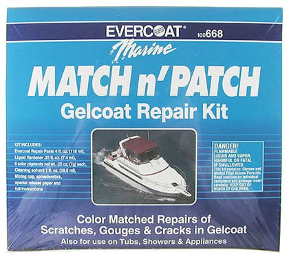 Evercoat 100668 Gel Coat Repair Kit, Match & Patch