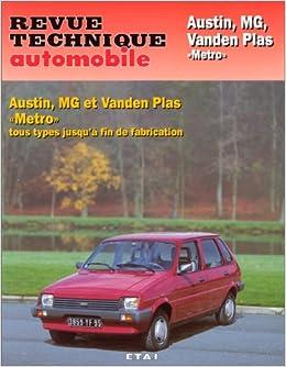 Rta 428.4 Austin Mg Vanden Plas Métro et Métro Turbo (French Edition): 9782726842843: Amazon.com: Books