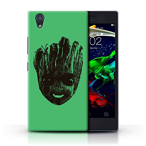 STUFF4 Phone Case / Cover for Lenovo P70 / Cute Baby Groot Face Design / Guardians Comic Inspired Collection