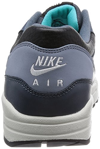 Nike Nike Air Max 1 Ltr Leather Premium - Zapatillas Hombre black ivory dark magnet grey 002