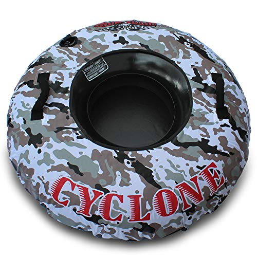 (Flexible Flyer Cyclone Heavy Duty Snow Tube. Round Inflatable Sled. 48