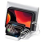 Satechi 7-Port USB Charging Station Dock - Compatible with iPhone 11 Pro Max/11 Pro/11, XS Max/XS/XR/X, 8 Plus, 8, 2019 iPad/2018 iPad Pro, Samsung Galaxy S10/S9/S8/S7/S6, Nexus, HTC (White)