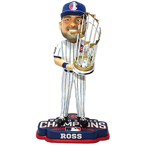 FOCO MLB Chicago Cubs David Ross Unisex Ross D. #3 2016 World Series Champions 8'' Bobble by FOCO