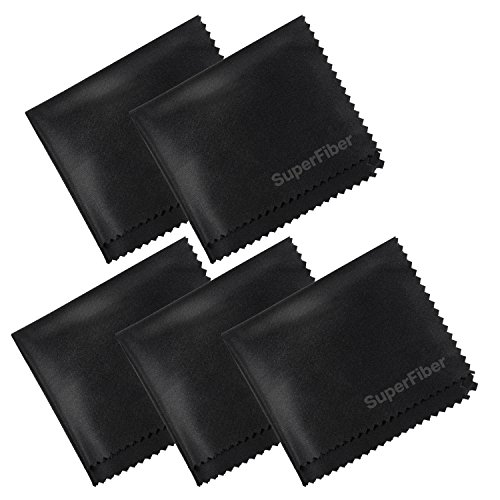 EACHPOLE 5 Pack Microfiber Cleaning Cloths for DSLR Camera L
