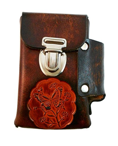 Hand Crafted Leather Cigarette Case, Lighter Pocket, Many Tooled Designs, Free Personalization