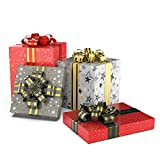"""Premium Gift Wrapping Sheets 4 Designs X 5 Sheets (20 Wrapping Sheets) Size 17""""x 24"""" - Theme Christmas Sparkle (90 Cents per Sheet)"""