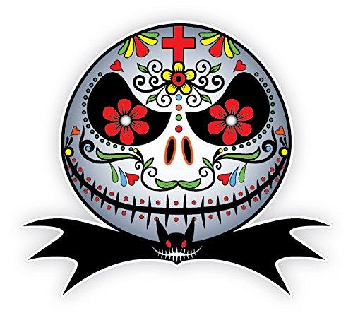 Skull Jack - Mexican Sugar Skull Sticker Version 111 Jack Skellington Day of the Dead Calavera Candy Skull Nightmare Sticker Decal