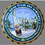 Corona Extra Beer Bottle Cap Die-Cut Tin Sign