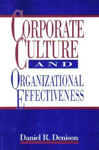 Corporate Culture and Organizational Effectiveness