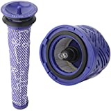 1 Pre-Filter and 1 HEPA Filter kit for Dyson V6 Absolute Cordless Stick Vacuum. Replaces Part # 965661-01 and 966741-01