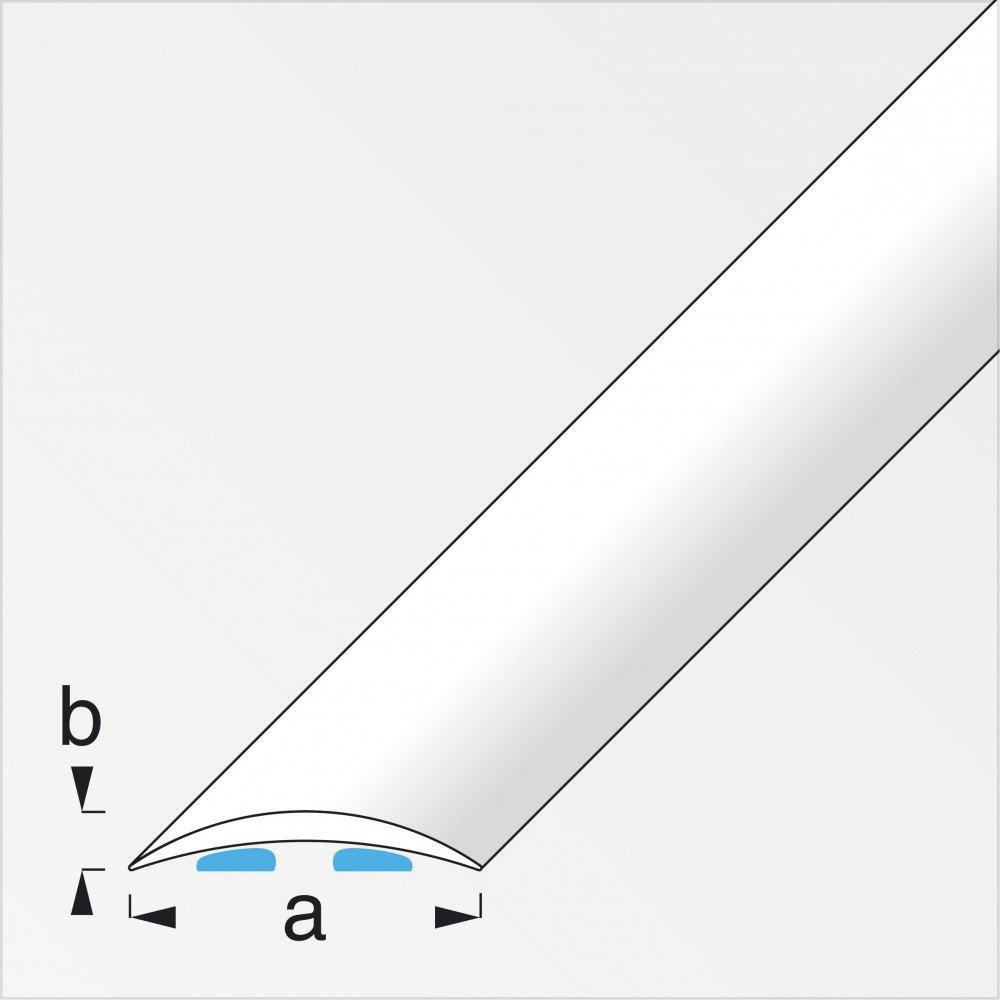 Varianten /Übergangsschiene gew/ölbt//selbstklebend 30mm in versch