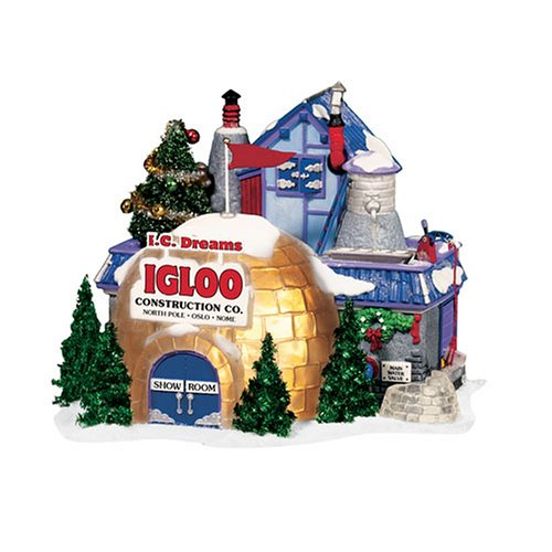 Department 56 North Pole Village I.C. Dreams Igloo Construction Company Lit Building