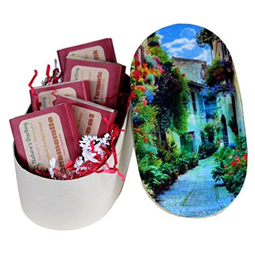 NATURE'S DARLING Natural Handmade Herbal 5-Soap Box Set