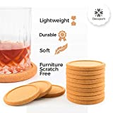 Lip Cork Coasters with Gold Holder | Absorbent