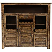 Jofran: 1511-89, Cannon Valley, Wine Cabinet, 59W X 17D X 55H, Cannon Valley Finish, (Set of 1)