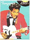 The history of Rock and Roll large stamp sheet - Chuck Berry, Bob Dylan, Aretha Franklin, Buddy Holly, Bruce Springsteen, The Rolling Stones and more - 9 Superb condition stamps for collectors - / Tanzania / 250F