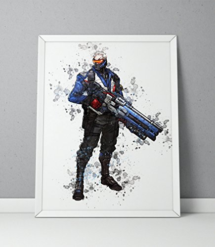 Overwatch print, Soldier 76 print, Overwatch poster, Soldier 76 poster, game poster, Blizzard N.012 (16 x 20 inch)