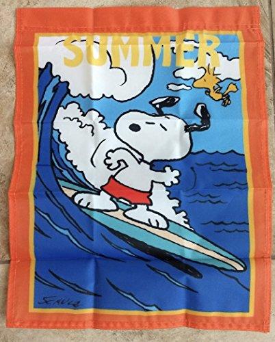 (Peanuts Snoopy Summer 14x18 inches Garden Flag Beach Ocean)
