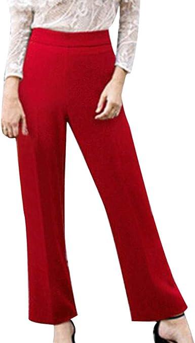 Sylar Pantalones De Mujer Tallas Grandes Otoño Simple Color Sólido ...