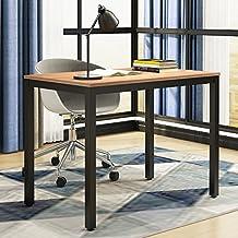 Need Computer Desk- 39.37'' Length Computer Table Study Writing Desk Gaming Desk Home Office Desk, Teak Color Desktop+ Black Frame AC3BB-100-60