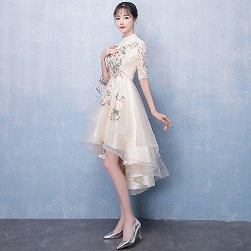 Da Corto D'onore Ly Cheongsam Un Damigella Banchetti Lungo Per Sera Abito Vestito Elegante Davanti Cinese T50wqgp5