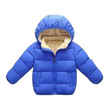 51a320adad8e Amazon.com   Baby Toddler Girls Warm Clothes Winter Thick Zipper ...