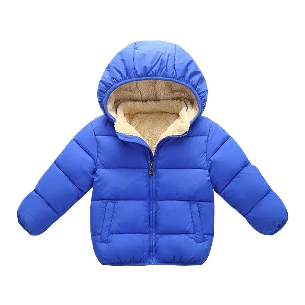 Little Kids Winter Warm Coat,Jchen(TM) Clearance! Kids Baby Little Girl Boy Winter Hooded Coat Cloak Jacket Thick Warm Outerwear Clothes for 2-7 Y (Age: 2-3 Years Old, Blue)