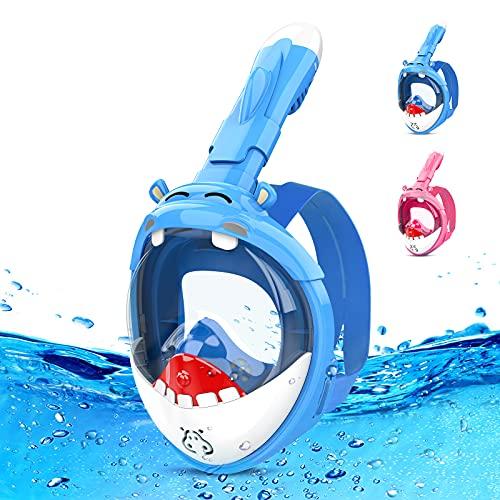 Máscaras de Buceo Snorkel Infantiles - Gafas Cara Completa Antivaho Máscara Buceo - Comprar Online - Envíos Baratos o Gratis