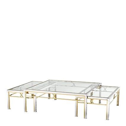 Amazoncom Nesting Coffee Table Set Of 3 Eichholtz Lindon