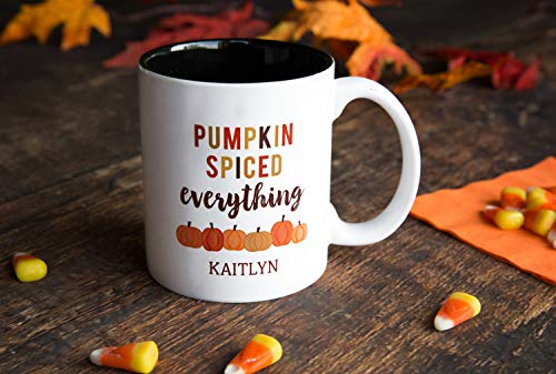 Personalized Halloween Mug Birthday Gifts - Unique Coffee Lovers Gift (11oz Halloween Mug, Kaitlyn Design) -