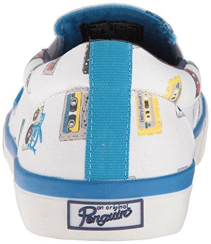 Sneaker Originale Beckett Da Uomo Pinguino Bianco / Multi Stampa