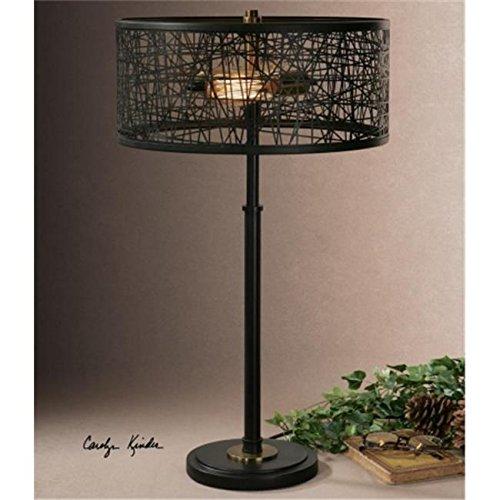 Uttermost 26131-1 Alita Black Drum Shade Lamp /RM#G4H4E54 E4R46T32593859 -
