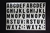 A-Z Alphabet Letters Stickers Vinyl Decals (X2 Sets) Choose Color & Size 1/2'' Up To 12 Inch V461 (5'' X 2.65'', Red)