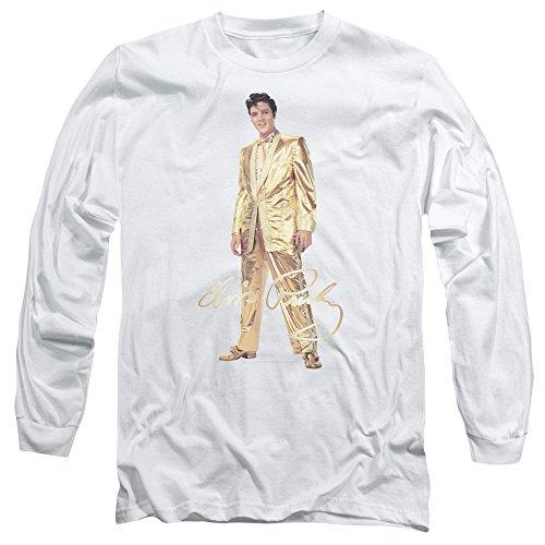 Elvis Presley - Gold Lame Suit - Adult Long-Sleeve T-Shirt - (Lame Long Sleeve)