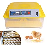 Oanon 48 Egg Incubator, Automatic 48 Digital Egg Hatcher Turning Temperature Control, Poultry Auto-Turning Egg Incubator Poultry Hatcher for Chickens Ducks Birds[US Plug]